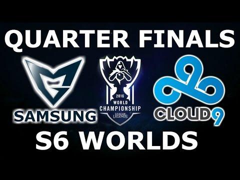 Cloud 9 vs Samsung - Quarter Finals Full Series S6 LoL eSports World Championship 2016! C9 vs SSG