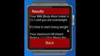 Runner Calculator for Samsung Gear 2 smartwatch