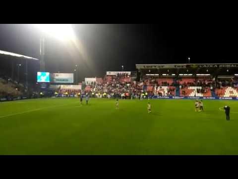Así celebró el Huesca el ascenso en el Ángel Carro