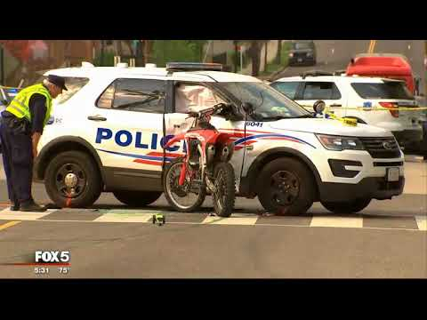 Anjali Hemphill reports on crash between dirt bike and DC police car