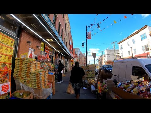 ⁴ᴷ⁶⁰ Walking Tour of Jersey City, NJ - Newark Avenue from Grove Street to Journal Square