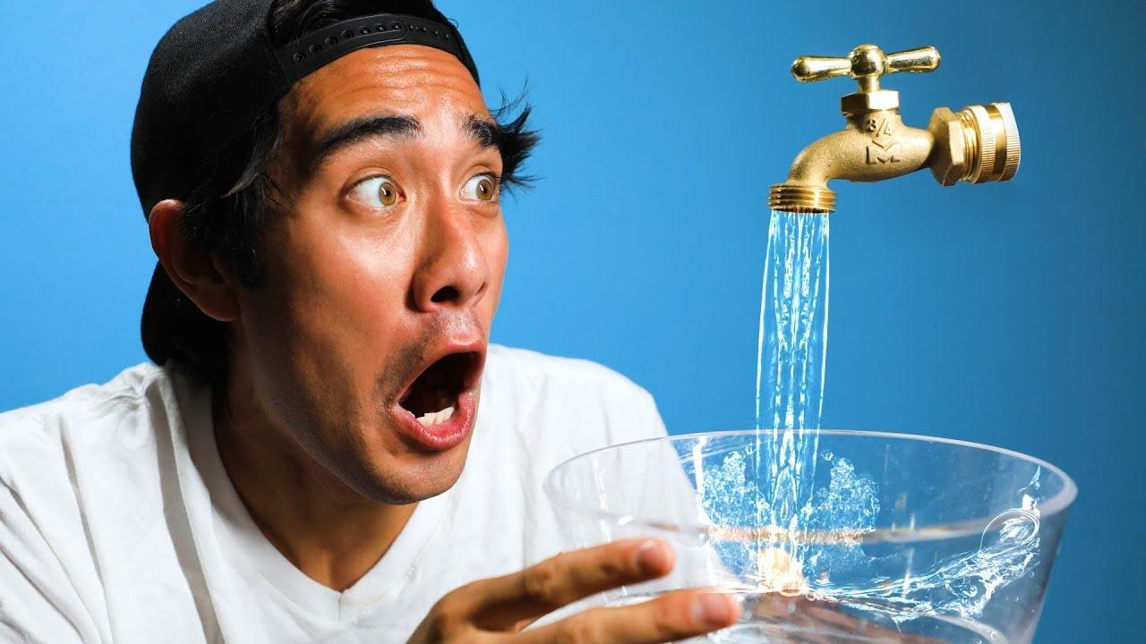 Satisfying Water Illusion Tricks w/ Zach King