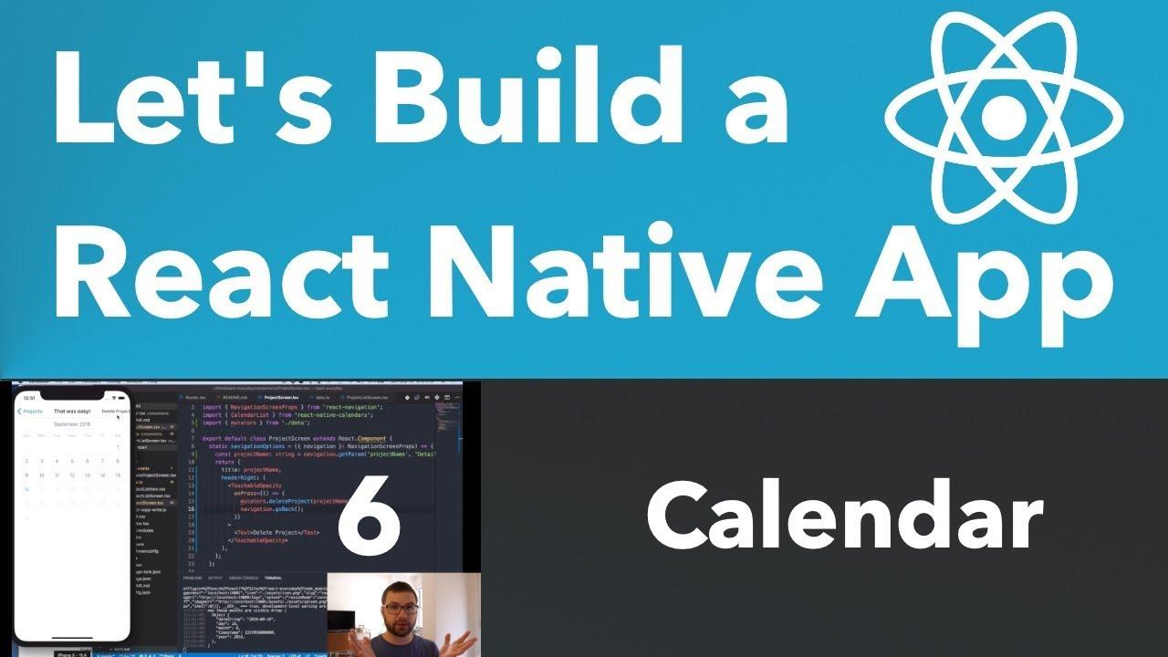 Let's Build a React Native App: Calendar