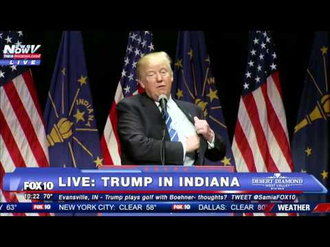 FULL: Donald Trump Rally Evansville, Indiana - 4/28/16 - FNN