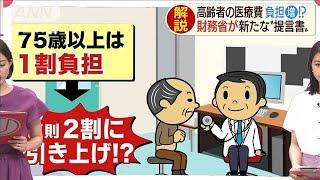 """高齢者の医療費が負担増?財務省が新たな""""提言書""""(19/06/19)"""