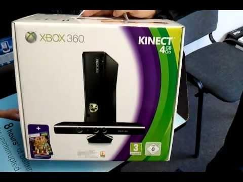 Xbox 360 4Gb Kinect + Kinect Adventures kicsomagolás (Unboxing) -  www origogsm hu