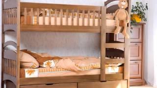Детские кровати из дерева. Одноярусные и двухъярусные детские кровати для ребенка.(, 2016-05-09T19:06:49.000Z)