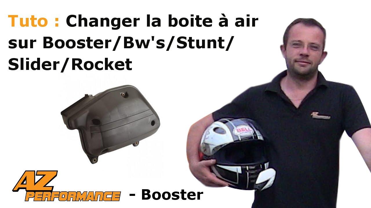 tuto changer ou nettoyer la bo te air d 39 origine de son booster stunt rocket youtube. Black Bedroom Furniture Sets. Home Design Ideas