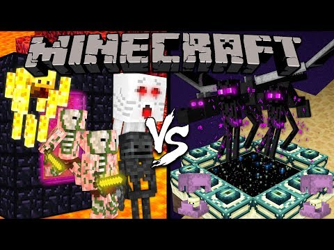 The Nether vs. The End - Minecraft