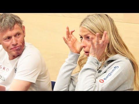 Gråtkvalt Therese takker Marit Bjørgen