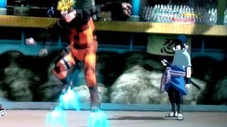 Naruto Revolution Demo Mecha-Naruto Vs Sasuke :-)