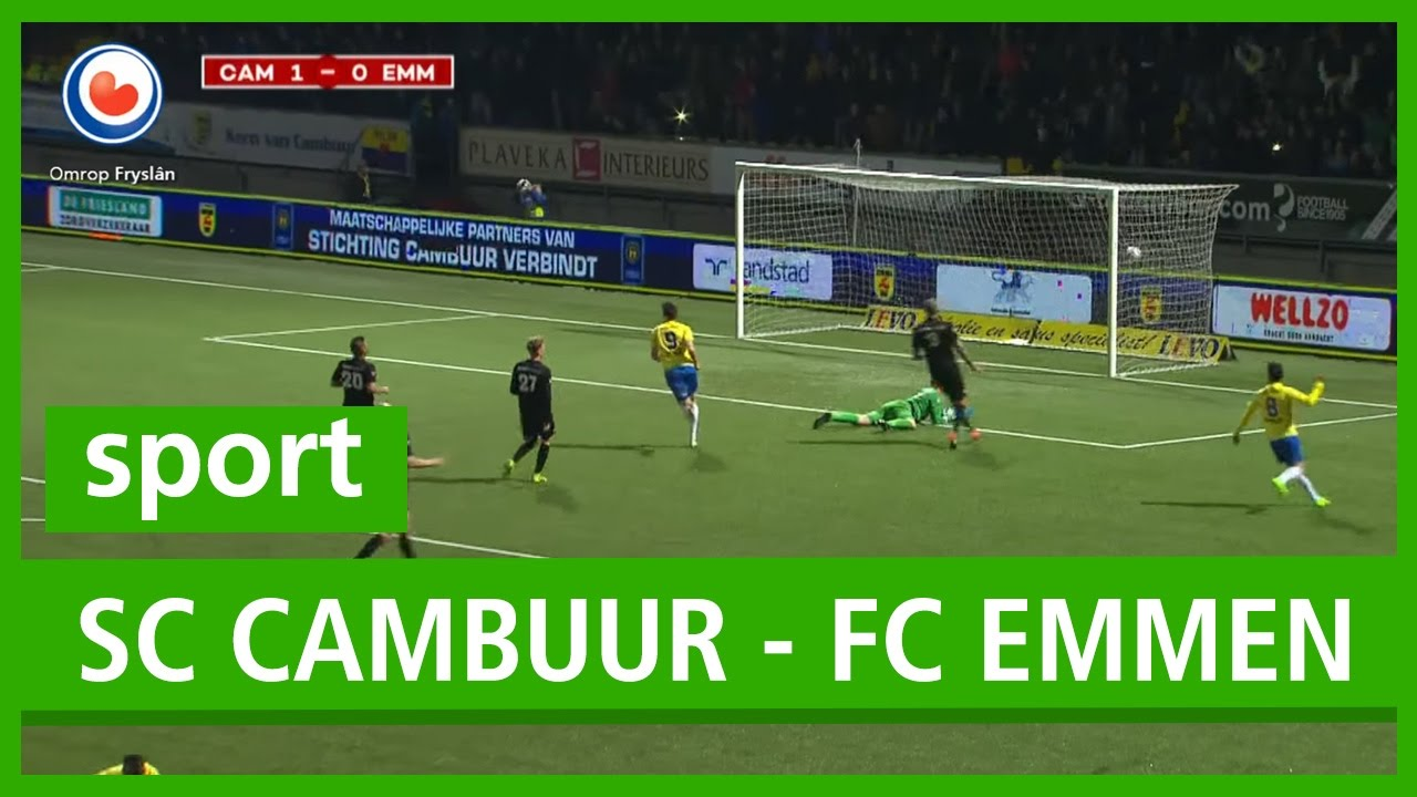 Voetbal Samenvatting Sc Cambuur Fc Emmen Youtube