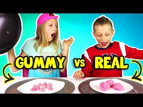 GUMMY vs REAL FOOD 3!