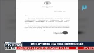 President Duterte appoints new PCGG Commissioner