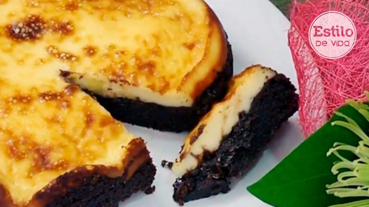 Tarta de queso y chocolate postre f cil y r pido youtube - Postres ligeros y rapidos ...