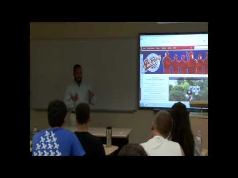 Center Court Sports Speaker Series at Lynn University: Alvaro Gomez, 9-27-2012