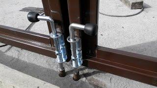 видео ремонт распашных ворот
