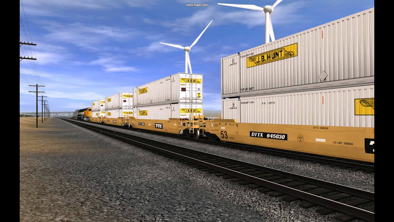 SD70MAC: PROMO - BNSF J.B.Hunt Intermodal - YouTube