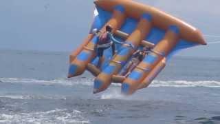 flying fish in bali indonesia