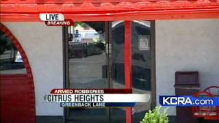Citrus Heights police are investigating two armed robberies that mi...