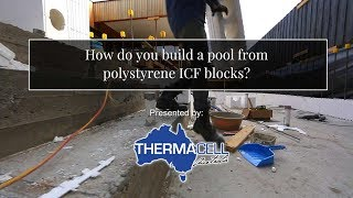 How do you build a pool from polystyrene ICF blocks?