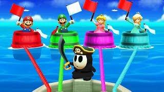 Mario Party The Top 100 MiniGames - Mario Vs Luigi Vs Peach Vs Rosalina (Master CPU)
