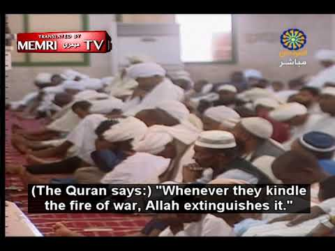 Khartoum Friday Sermon: The Jews Are Behind Every War and Can Only Survive In Corruption and Strife
