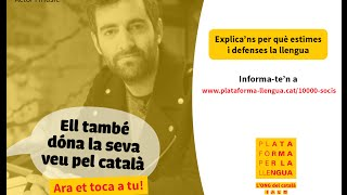 Joan Dausà dóna la seva veu pel català!