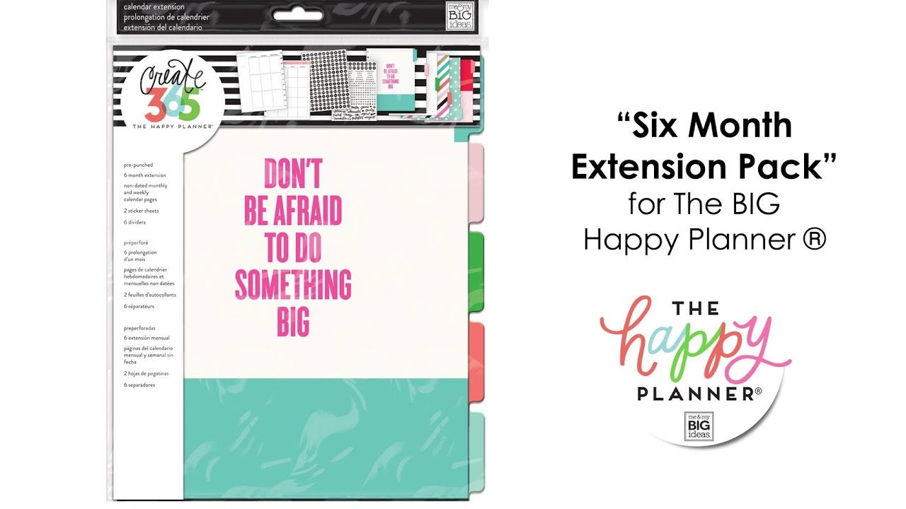 'Six Month Extension Pack' - Happy Planner™ Preview - BIG