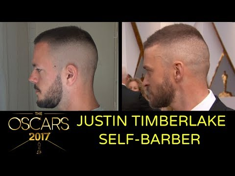 How To Cut Your Own Hair Like JUSTIN TIMBERLAKE OSCARS OPENING PERFORMANCE 2017 - Self Barber