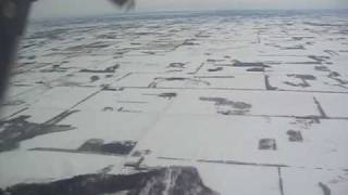 Landing in Edmonton International airport