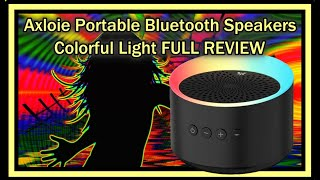 Axloie MEGA TWS Portable Bluetooth Speakers With Mic Colorful Light Deep Bass Stereo FULL REVIEW