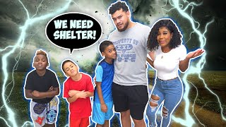 A TORNADO IS COMING!! THE KIDS WERE SO SCARED