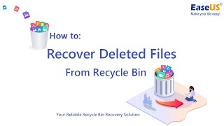 How to Recover Deleted Files from Recycle Bin in Windows 10, 8.1, 8, 7, XP, Vista?
