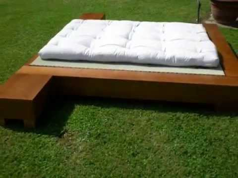 Japan bed letto giapponese futon - YouTube