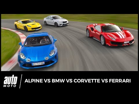 Alpine vs BMW vs Corvette vs Ferrari : quatre propulsions au top