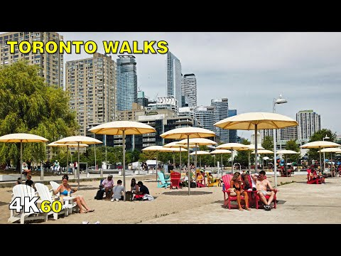 Downtown Toronto Waterfront Walk on Sunday, July 5, 2020 [4K]