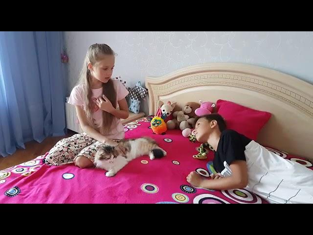 Изображение предпросмотра прочтения – МарияПасечник читает произведение «Кот поёт, глаза прищуря…» А.А.Фета