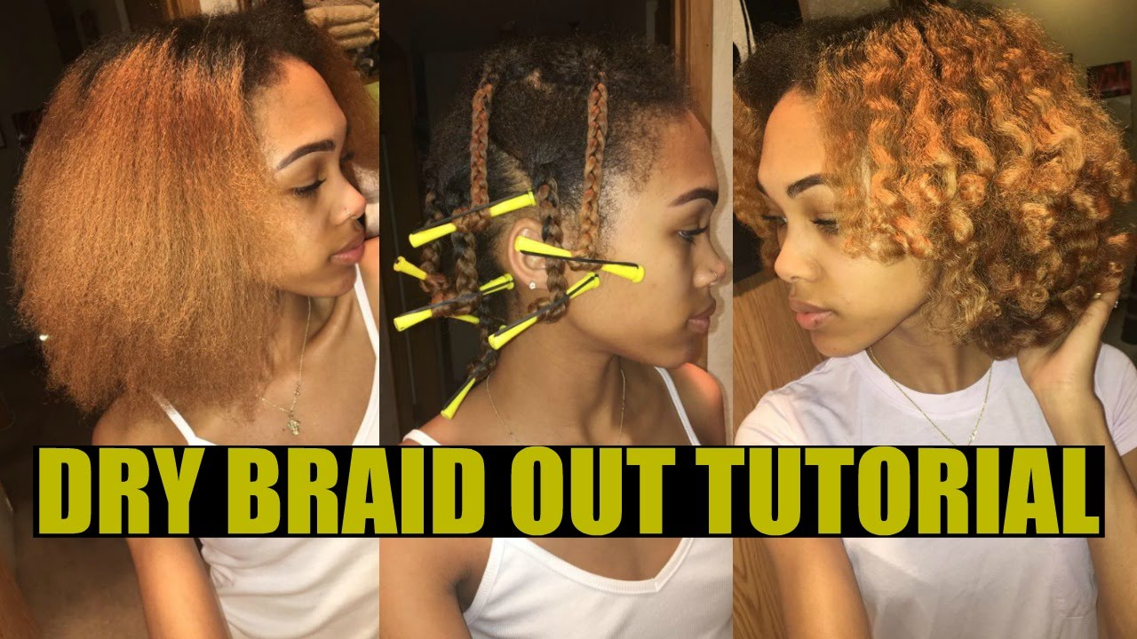 Fluffy Braid Out On Blow Dried Hair Natural Relaxed