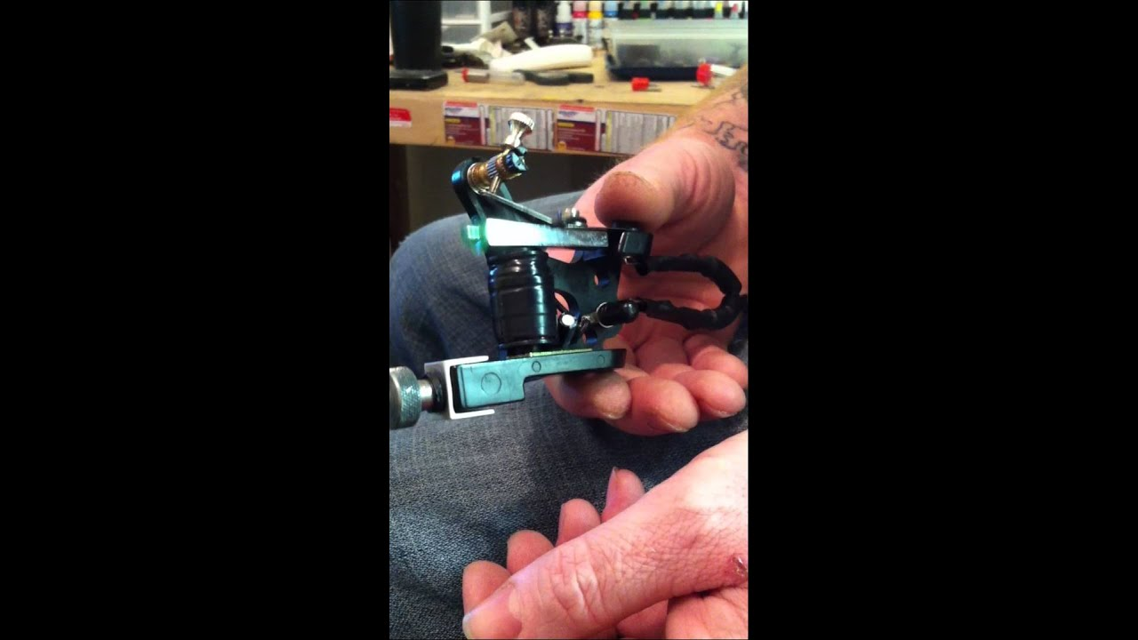 single coil tattoo machine using a coil i re wrapped  [ 1280 x 720 Pixel ]