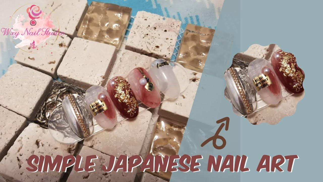 Wxy Nail Studio | Simple Japanese Nail Art | 手残党美甲款式分享 | 日式美甲款式 | Easy Nail Art | 简易美甲 |