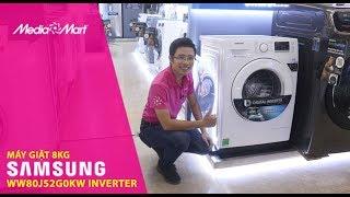 Máy giặt hơi nước 8 Kg Samsung WW80J52G0KW Inverter - Chăm sóc quần áo hoàn hảo