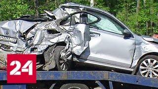 Семь машин столкнулись на Ярославском шоссе: водитель большегруза уснул за рулем - Россия 24