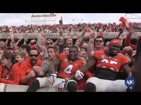 VIDEO: UGA celebrates defeating Georgia Tech 38-7 at Bobby Dodd Stadium
