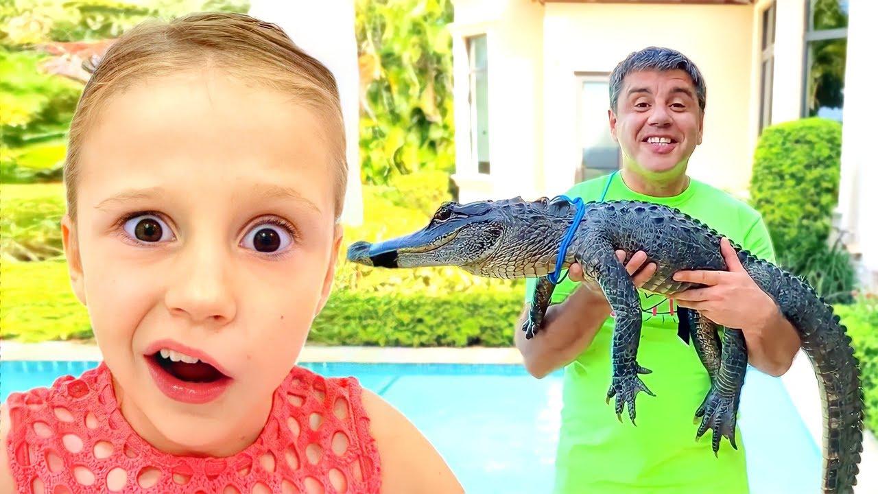 Download Nastya et papa ont de nouveaux animaux de compagnie! Histoires d'animaux pour enfants