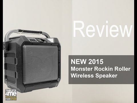 New 2015 Monster Rockin Roller Wireless Speaker for Outdoor Use and Tail Gating!