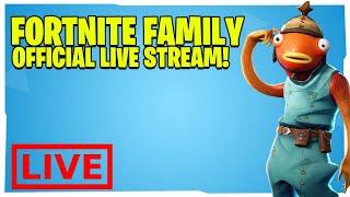Fortnite Family - DOING CUSTOM SOLO GAMES! Code: FortniteFam to Join