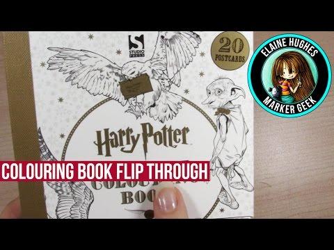 harry-potter-colouring-book-postcard-edition-flip-through