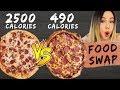 I Tried To Make A Healthy Pizza | Domino's Vs. Homemade Pizza + Recipe