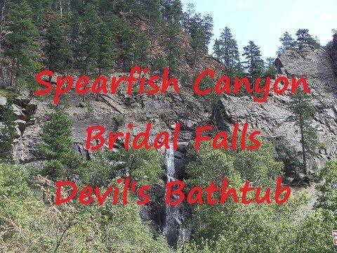 Part 1: SPEARFISH CANYON, BRIDAL FALLS, DEVIL'S BATHTUB HIKE, SOUTH DAKOTA BLACK HILLS